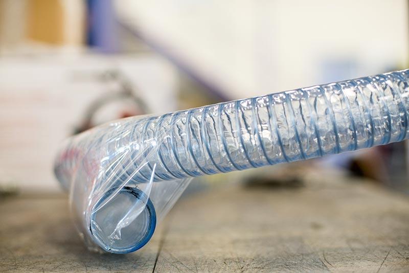 Tuyau PVC souple spiralé acier qualité alimentaire