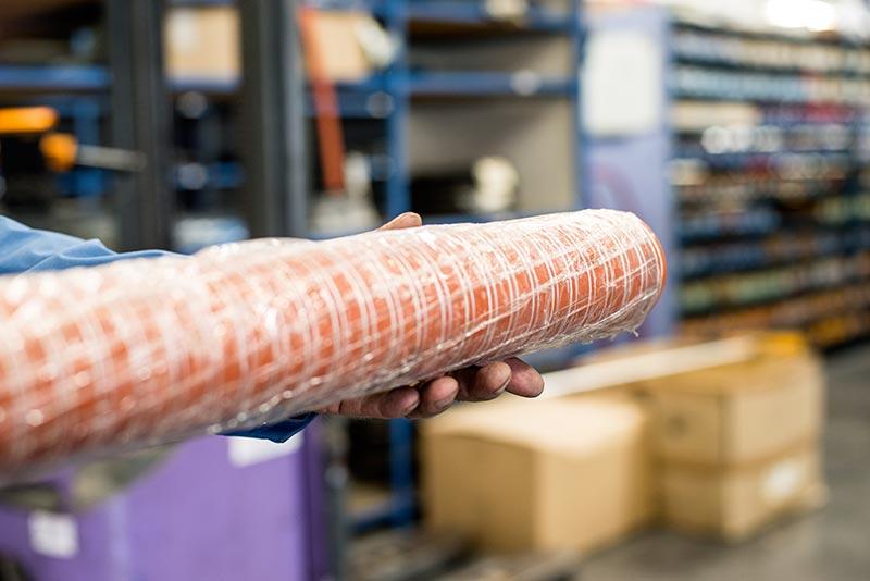 Gaine fibre de verre enduit silicone spiralée