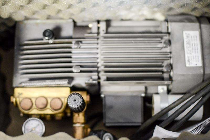 Moto-pompe pour réseau de brumisation en service